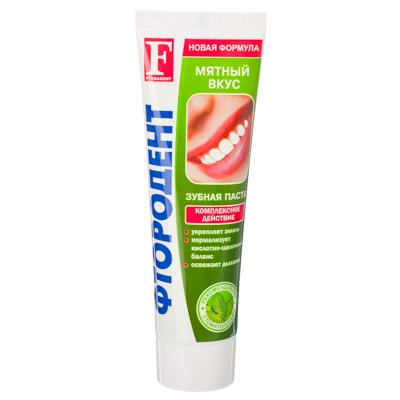 Зубная паста Фтородент, мятный вкус, туба 125гр, арт. 630, арт.№ 474-084
