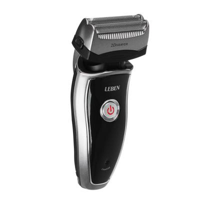 LEBEN Бритва аккумуляторная 3Вт с триммером для усов, 2 головки, сеточная система бритья, IW-5100, арт.№ 489-040