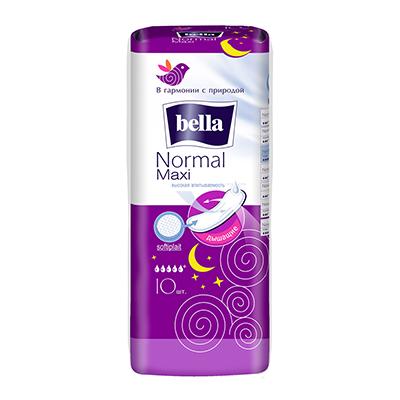 Прокладки гигиенические Bella Normal Maxi п/э 10шт, арт.10-013, арт.№ 941-037