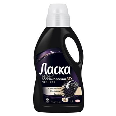 Средство для стирки жидкое ЛАСКА Восстановление черного для черного белья п/б 1л, 3D Эффект, 2093836, арт.№ 958-033