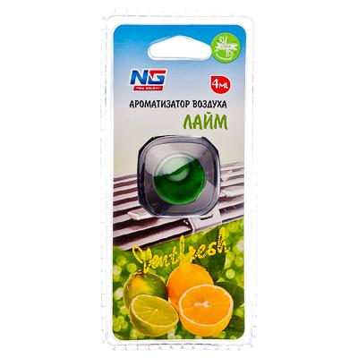 NEW GALAXY Ароматизатор на дефлектор мембранный Ventfresh, лайм, арт.№ 794-294