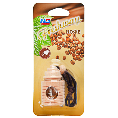 NEW GALAXY Ароматизатор подвесной Freshway, кофе, арт.№ 794-302