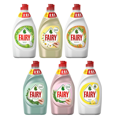 Средство для мытья посуды FAIRY Нежные руки Ромашка и витамин Е,п/б 450мл,арт.81686349, арт.№ 992-007