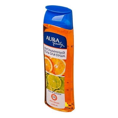 Гель для душа AURA витаминный Апельсин и лайм family п/б 260мл арт.04538, арт.№ 951-010