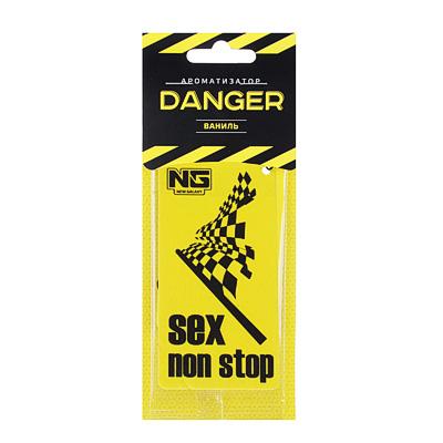 NEW GALAXY Ароматизатор бумажный Danger/Sex non stop, ваниль, арт.№ 794-317