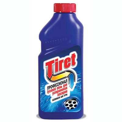 Средство чистящее-гель для чистки труб TIRET профессионал п/б 500мл, арт.№ 986-004