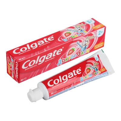 Зубная паста COLGATE Доктор Заяц вкус Клубники/Жвачки туба 50мл 188189286, арт.№ 981-008