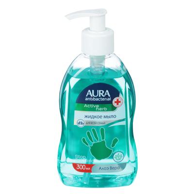 Мыло жидкое AURA с антибактериальным эффектом,300мл,алоэ вера,ромашка,арт.34416, арт.№ 952-041
