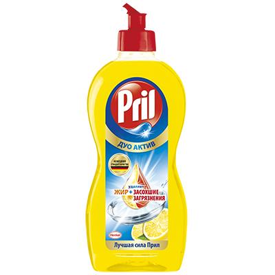 Средство для мытья посуды Прил Дуо Актив Лимон п/б 450мл, 2126622, арт.№ 992-010