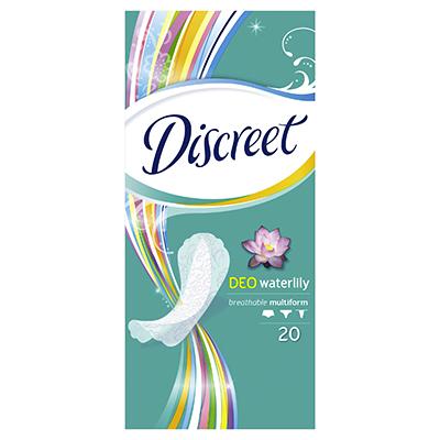 Прокладки гигиенические на каждый день DISCREET Deo Water Lily Multiform Single к/у 20шт, арт.№ 939-007