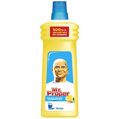 Моющая жидкость для полов и стен MR PROPER Лимон п/б 750мл, арт.№ 986-007