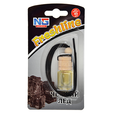 NEW GALAXY Ароматизатор подвесной Freshline черный лед, арт.№ 794-345