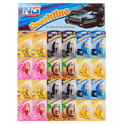 NEW GALAXY Ароматизатор Freshline, лист 24 шт, цена за шт, арт.№ 794-350