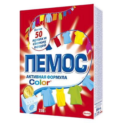 Стиральный порошок ПЕМОС Колор для цветного белья, к/у 350г, арт.№ 958-068