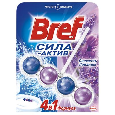 Средство для унитаза BREF Сила актив свежесть лаванды 50г, арт.№ 991-038