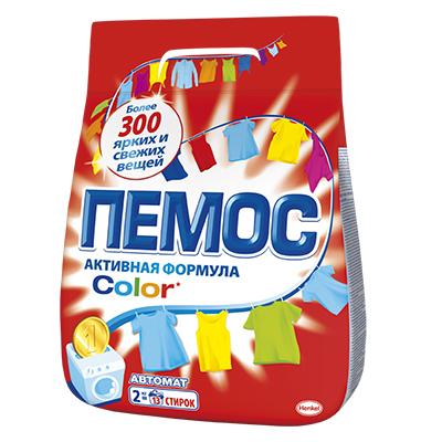 Стиральный порошок ПЕМОС Колор 2кг для цветного белья, арт.IDH2080109/2232830, арт.№ 958-072