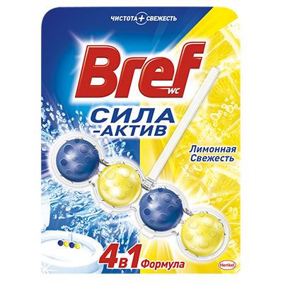 Средство для унитаза Бреф Сила актив лимонная свежесть 50г к/у, арт.№ 991-040
