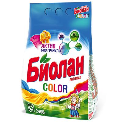 Стиральный порошок Биолан для цветного автомат п/у 2400г арт.744-4, арт.№ 958-080