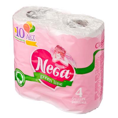 Туалетная бумага Nega Classic 2 слоя, 4шт, арт.№ 918-008