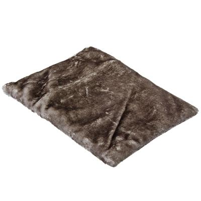 NEW GALAXY Подушка меховая на сиденье, 40x32см, серая, арт.№ 732-011