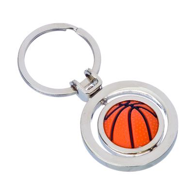 """NEW GALAXY Брелок """"Баскетбольный мяч"""", 3D, металл, 43x37x30мм, арт.№ 732-028"""
