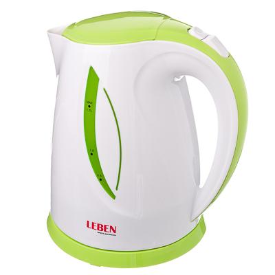 LEBEN Чайник электрический 1,7л, 1850Вт, скрытый нагр.элемент, пластик, LED подсветка, 3, арт.№ 291-011