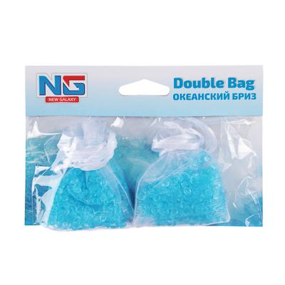 NEW GALAXY Ароматизатор воздуха пакетики Double Bag, океанский бриз, арт.№ 794-464