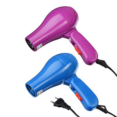 LEBEN Фен для волос дорожный 500Вт, 50Гц, 220В, пластик, 2 цвета, арт.№ 259-123