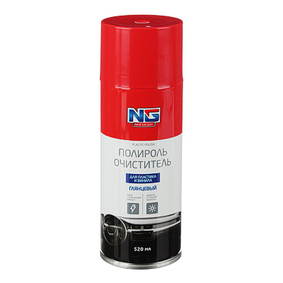 NG Полироль для пластика глянцевый с антистатиком, аэрозоль 520мл, арт.№ 727-033