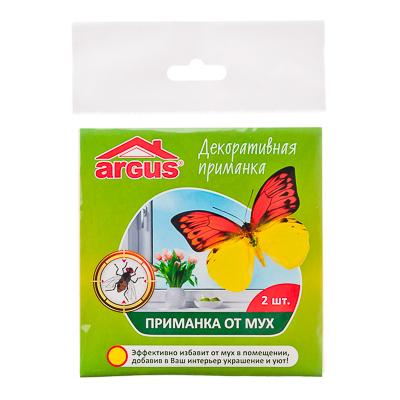 ARGUS Приманка оконная для мух и др. насекомых, 2 шт в пакете, Бабочка, арт.№ 968-006