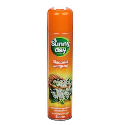 Освежитель воздуха Sunny Day Летний дождь/Майский ландыш, ж/б, 300мл, арт.№ 991-054