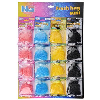 NEW GALAXY Ароматизатор пакетик с гранулами подвесной Fresh bag Mini, лист 16 шт, цена за 1шт, арт.№ 794-530