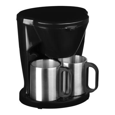 LEBEN Кофеварка капельная 500Вт, две металлические чашки 0,3л, арт.№ 286-025