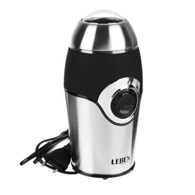 LEBEN Кофемолка 200Вт, загрузка 50гр, металл, soft touch, арт.№ 286-028