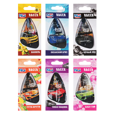 NEW GALAXY Ароматизатор подвесной гелевый Racer,8мл, 6 ароматов, арт.№ 794-549