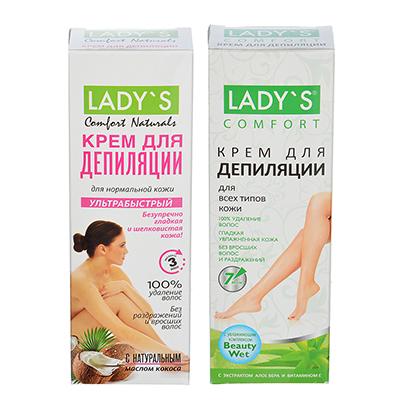 Крем для депиляции LADY S для всех типов кожи / для нормальной кожи, 100 мл, арт.№ 977-097
