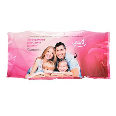 Салфетки влажные универсальные для всей семьи, 120 шт., арт. ZL26120, арт.№ 914-027