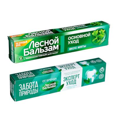 Зубная паста Лесной бальзам со вкусом мяты, 75мл, арт.№ 981-049