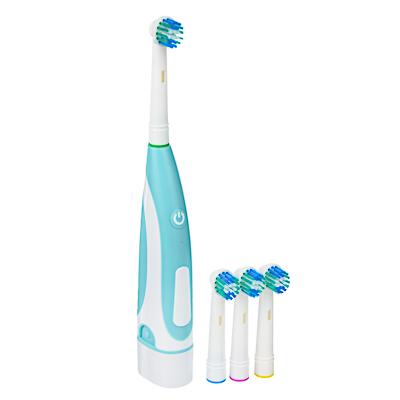 LEBEN Зубная щётка электрическая, круглая, 4 насадки в комплекте, 2xАА, 6000 об/мин, арт.№ 263-014