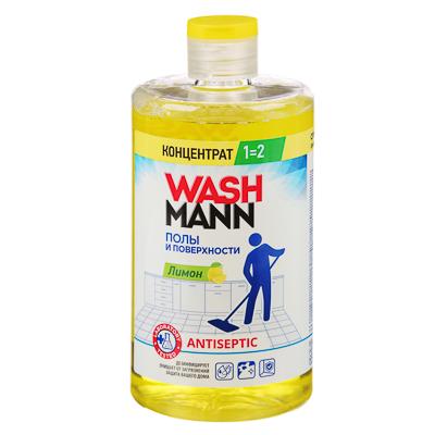 Средство для мытья полов WashMann Лимон/Яблоко,650мл, арт.№ 986-013