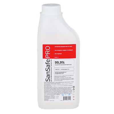 Средство с антибактериальным эффектом SANSAFE PRO, 70% изоп.спирт, 1л, арт.№ 911-036