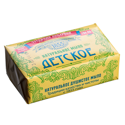 Мыло твердое ЗБК Для детей, крем и ромашка, 190 г, арт.№ 927-054