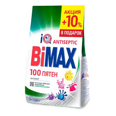 Стиральный порошок BiMax 100 пятен, 3,3 кг, арт.№ 958-116