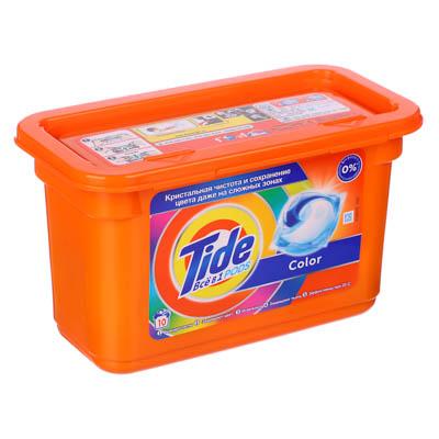 Средство для стирки TIDE Все в 1 для цветного белья в капсулах, 10 штук, арт.№ 958-117