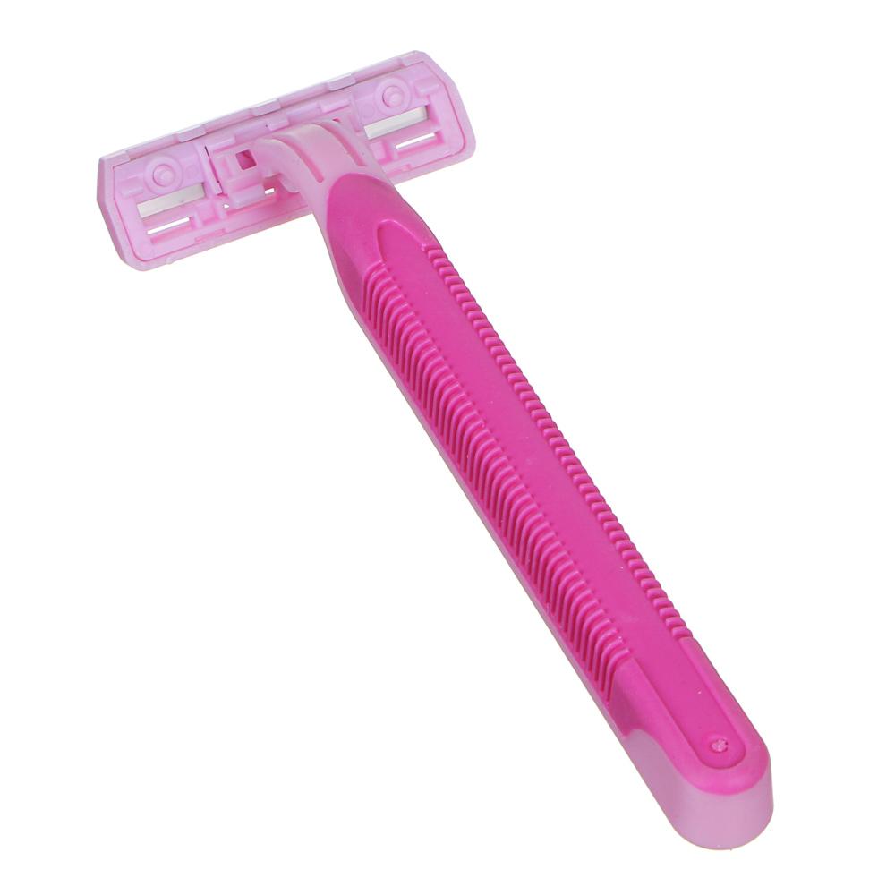 Станки для бритья с тройным лезвием 4шт для женщин, силикон, пластик, арт.№ 346-003