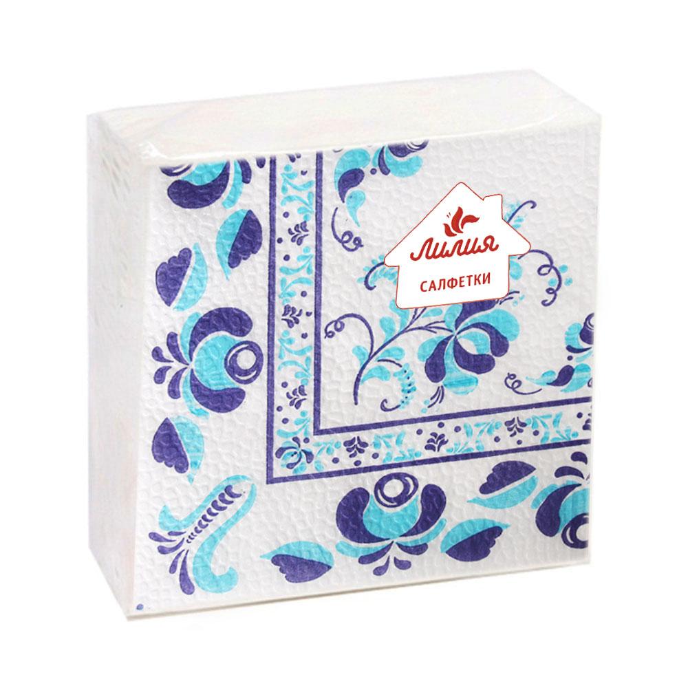 Салфетки бумажные Лилия с рисунком 1сл 50л, 8925/003/017, арт.№ 912-006