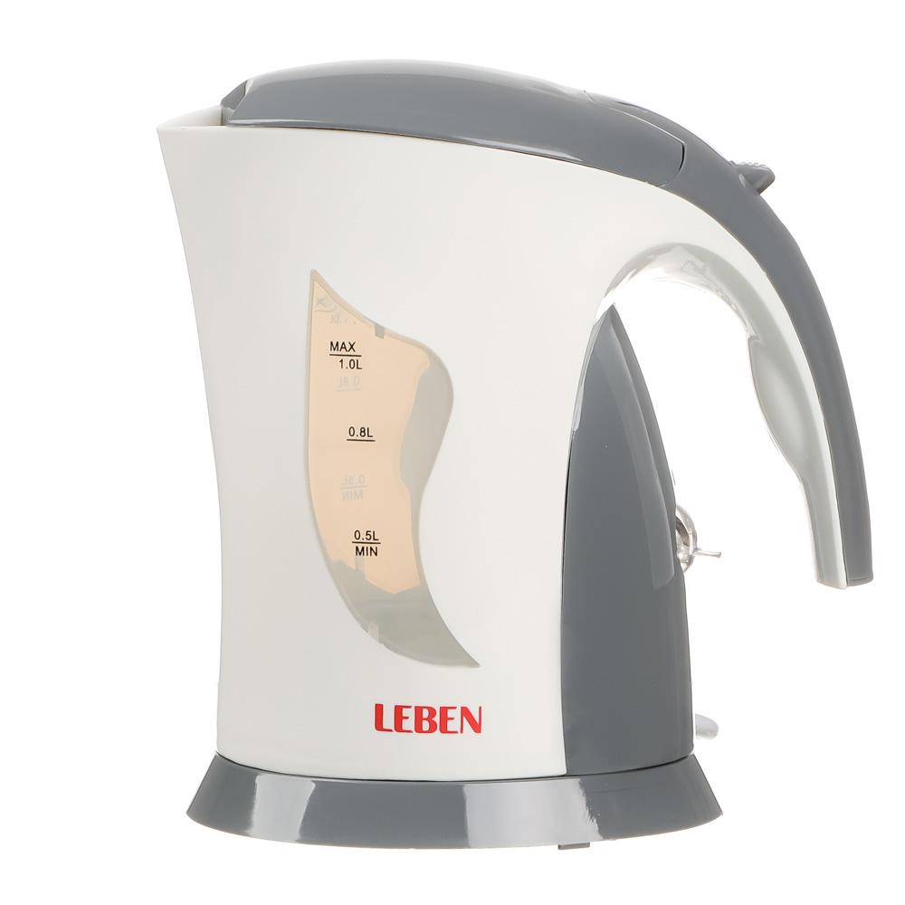 LEBEN Чайник электрический 1,0л, 1000Вт, спиральный нагр.элемент, арт.№ 291-868