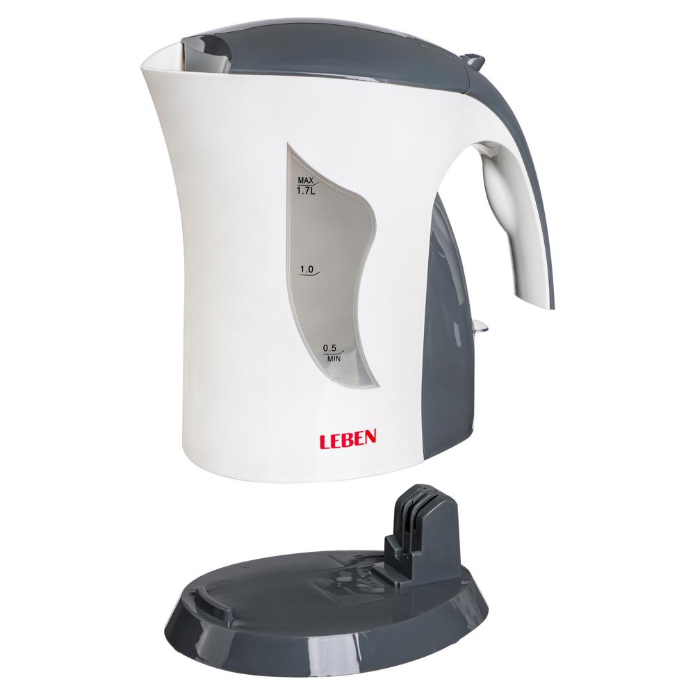 LEBEN Чайник электрический 1,7л, 1850Вт, спиральный нагр.элемент, арт.№ 291-869
