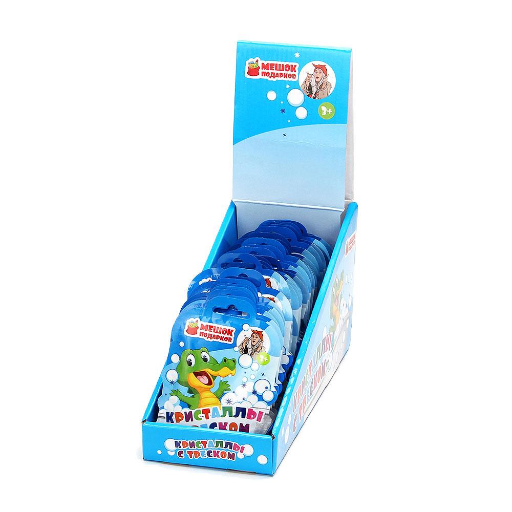МЕШОК ПОДАРКОВ Кристаллы с треском 10гр, в пакете, 3 цвета (зеленый, синий, красный) 3+, арт.№ 927-025