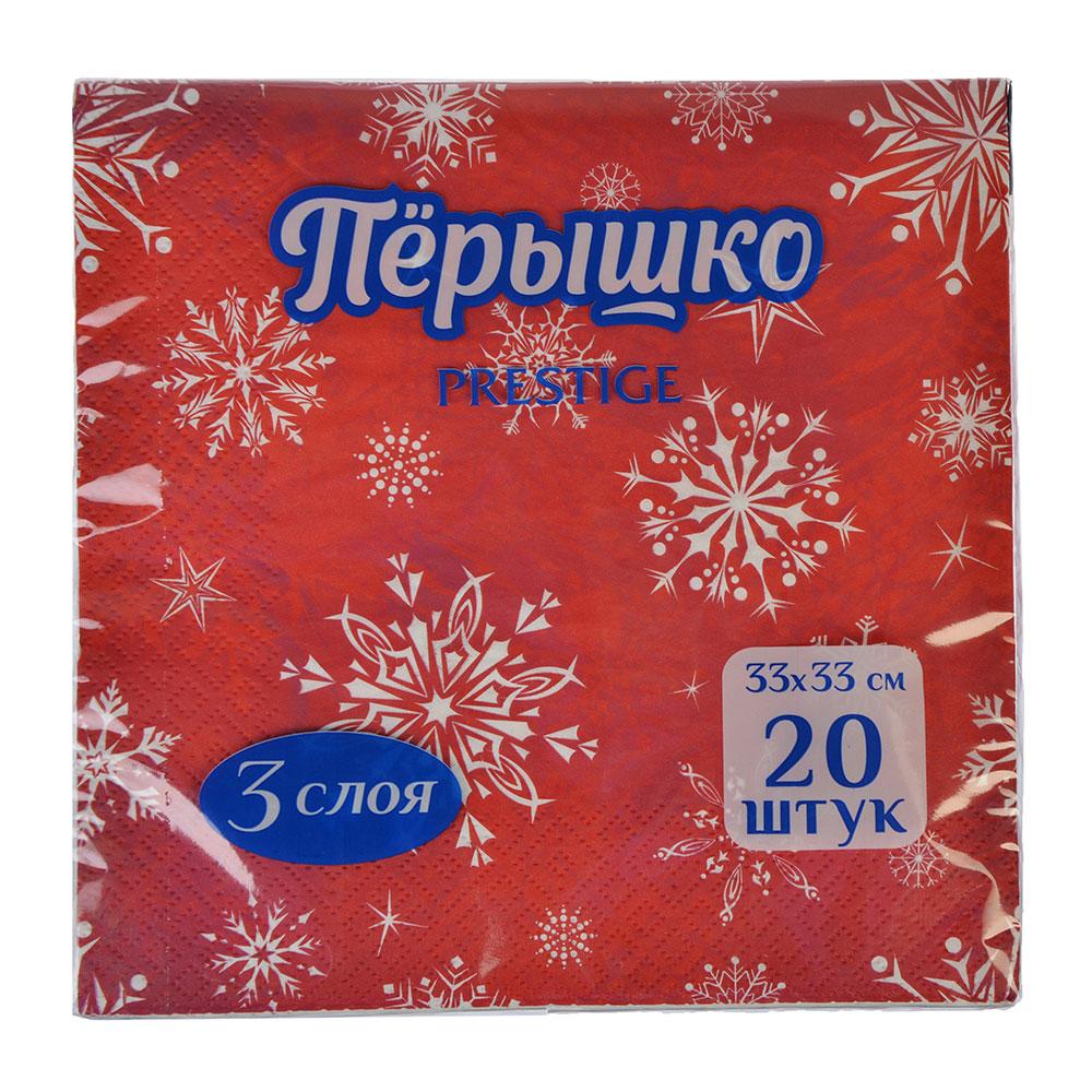 Салфетки бумажные Перышко/Лилия 33x33см, 20л, арт. 0312, арт.№ 912-010